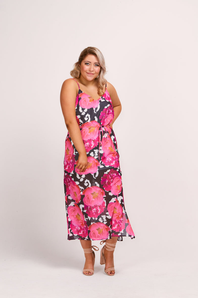 MADDOX DRESS - PEONY ANIMAL