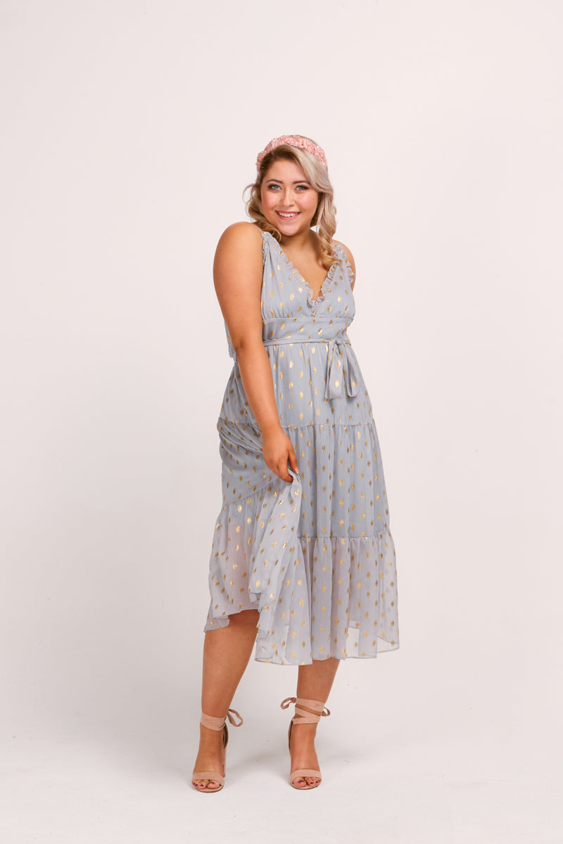 TILLY DRESS - SILVER