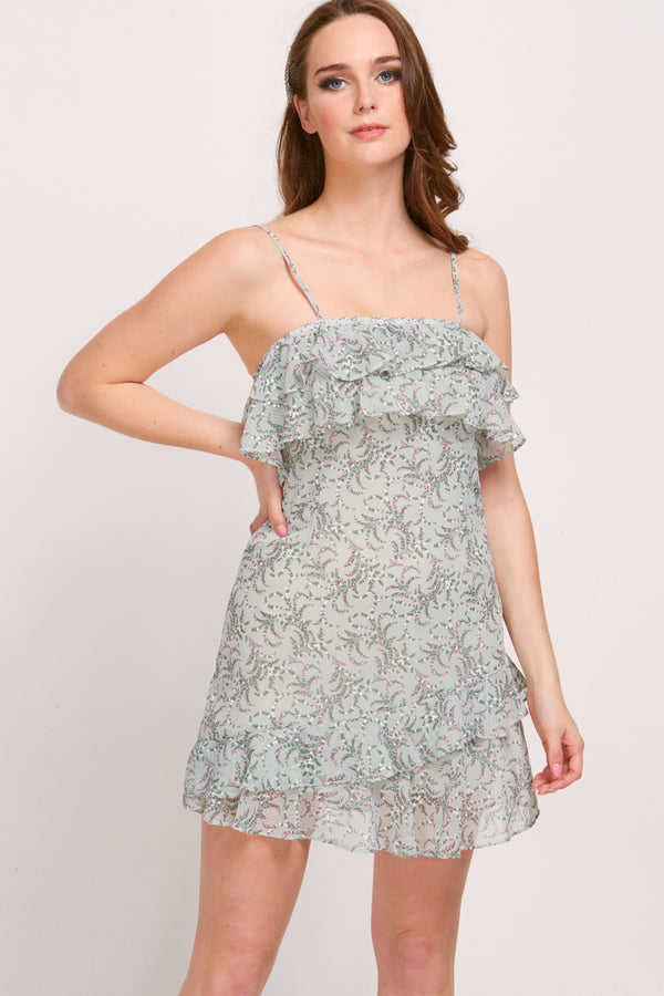 CAMELLIA DRESS - OLIVE PAISLEY