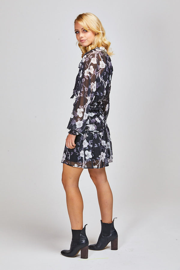 MCKENNA DRESS - BLACK FLORAL