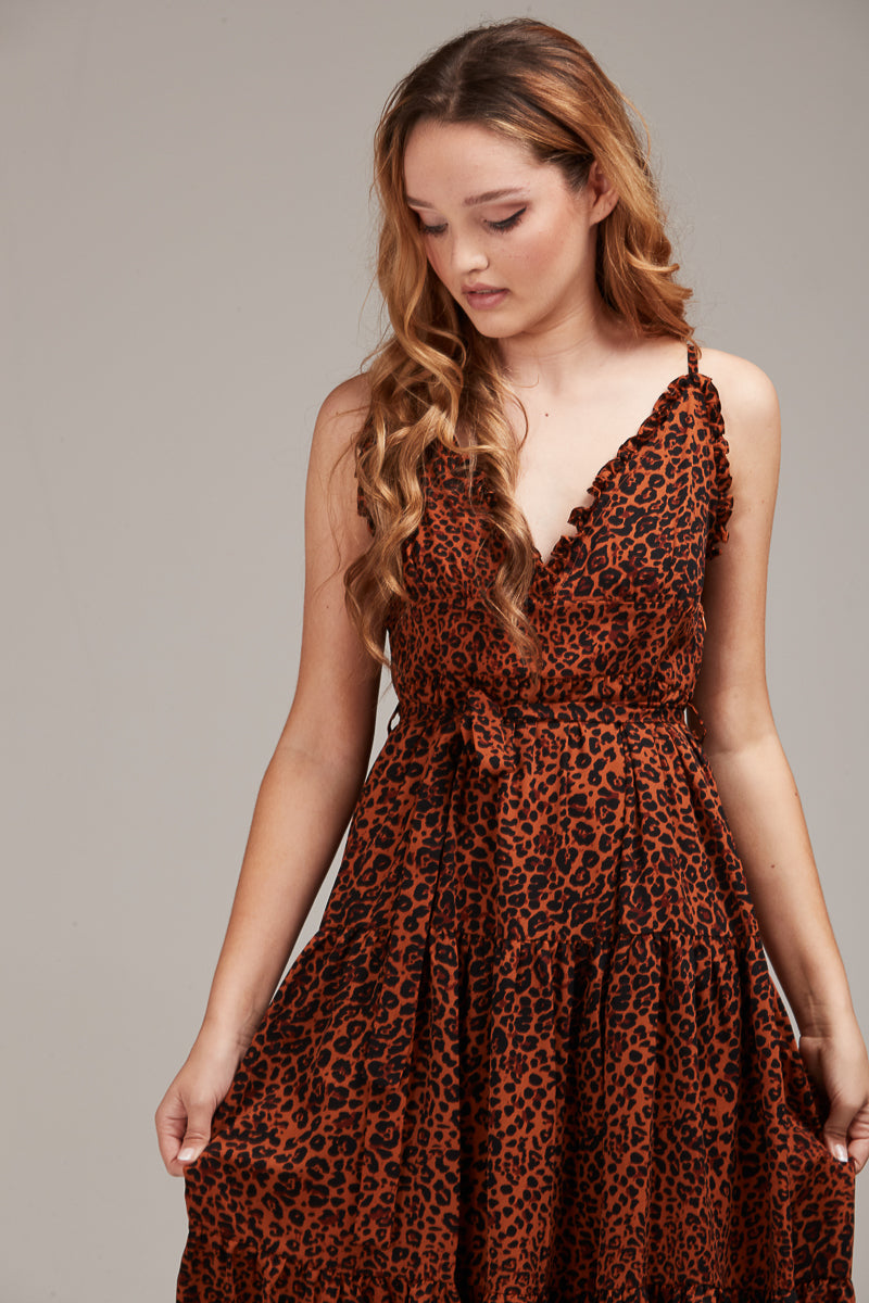 TILLY DRESS - LEOPARD