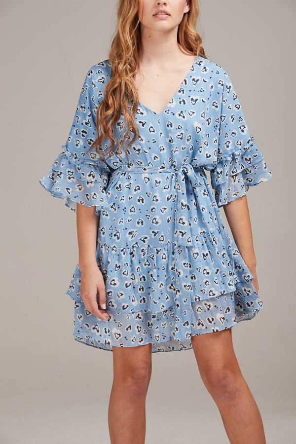 ESME DRESS - BLUE ANIMAL