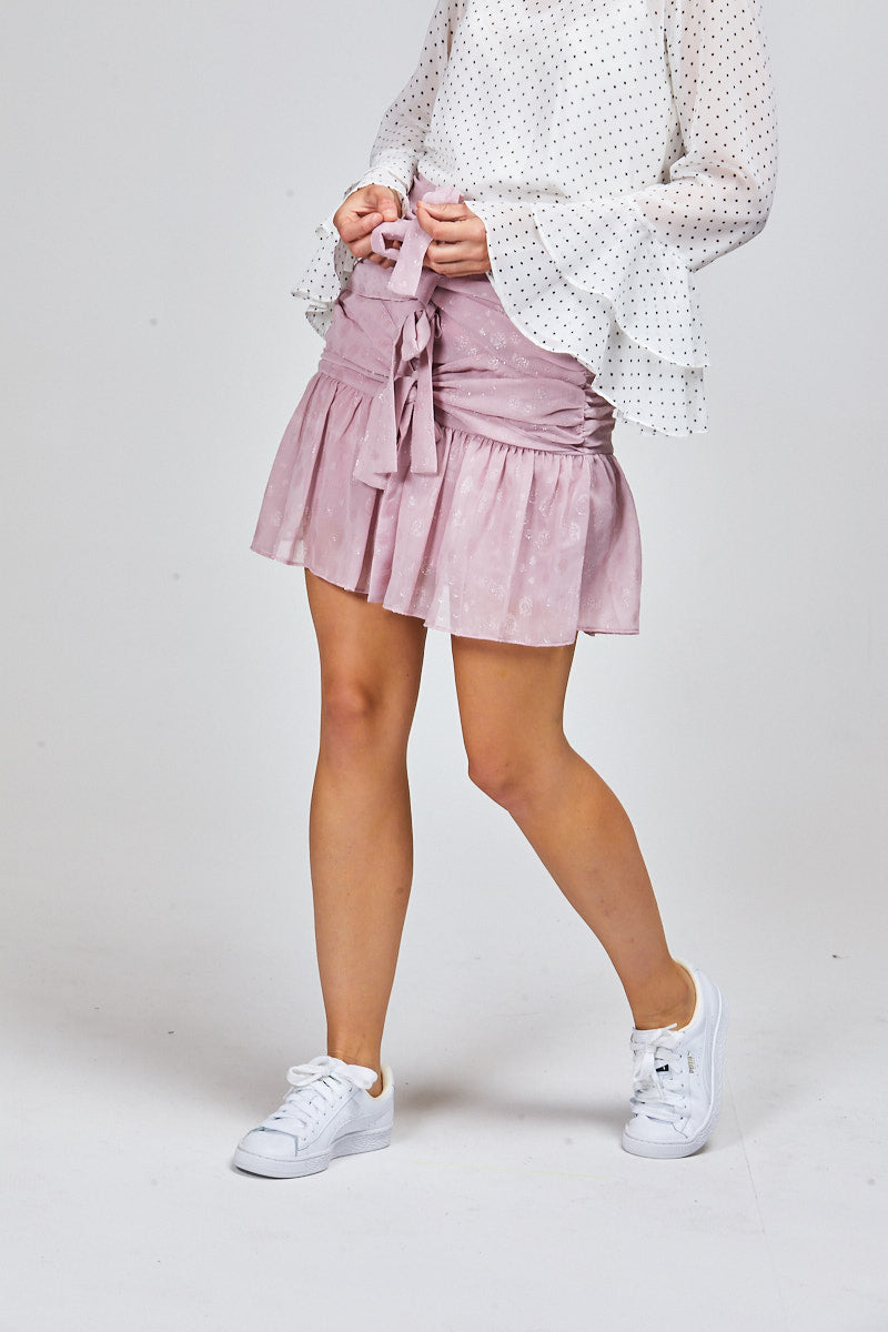 BAILEY SKIRT - BLUSH SHIMMER