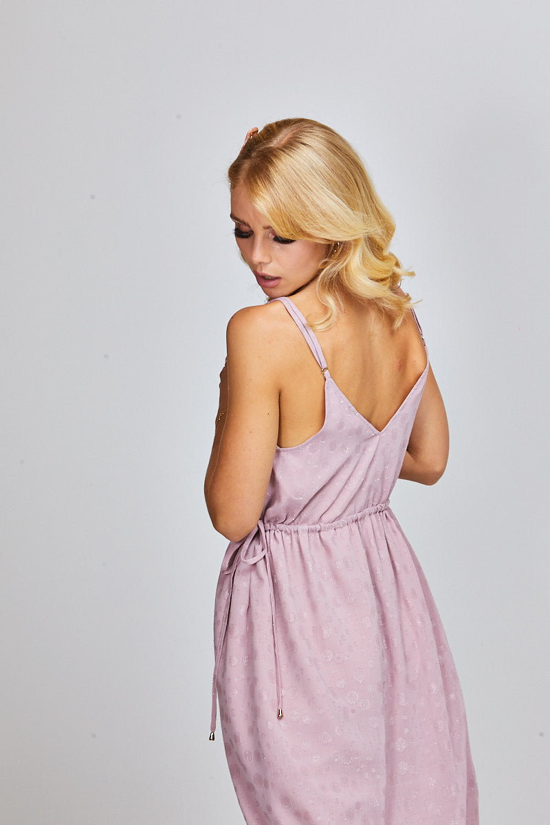 MALAIA DRESS - BLUSH SHIMMER