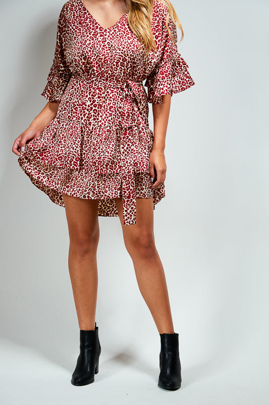 ESME DRESS - RED ANIMAL