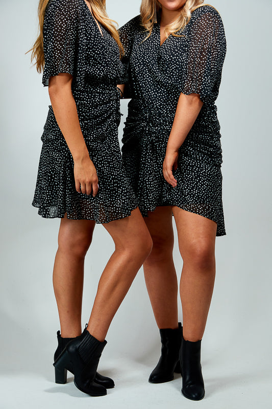 SCOUT DRESS - BLACK SPOTS