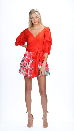 ADDI WRAP TOP - RED