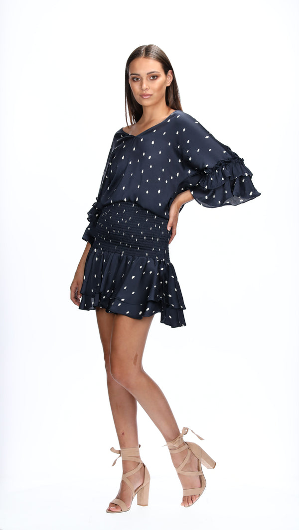 ALEXA TOP - NAVY SPOTS
