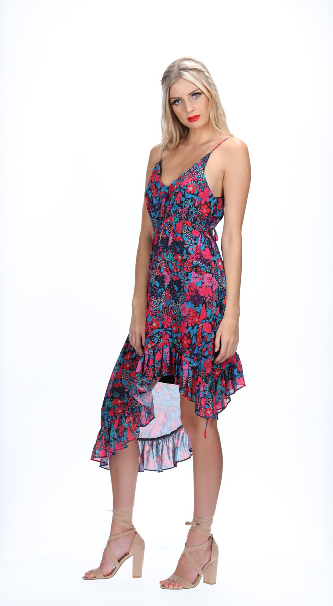 ALINA DRESS - DARK FLORAL