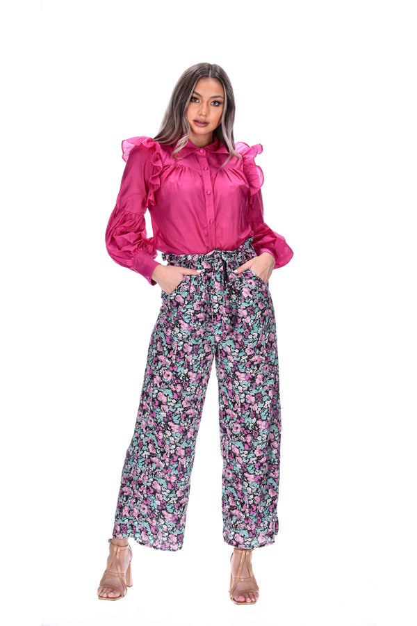NIKO PANTS - MAGENTA BOUQUET