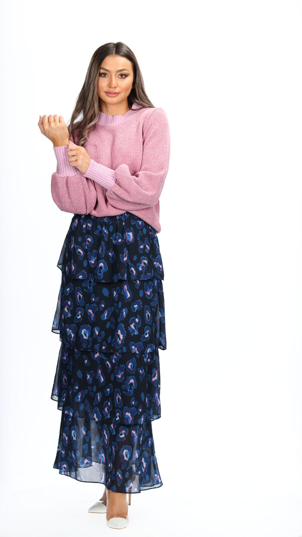 AMINA SKIRT - NAVY ANIMAL