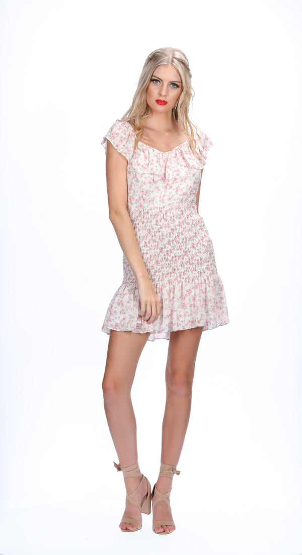 EMERY DRESS - PINK DAISY