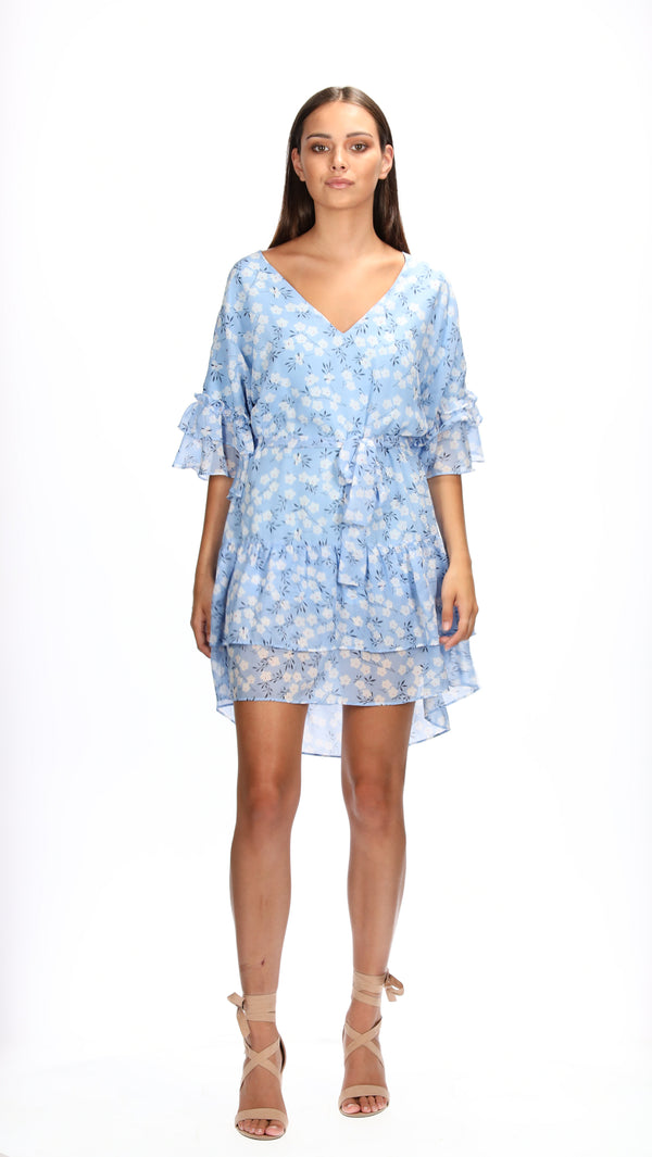 ESME DRESS - BLUE POSY