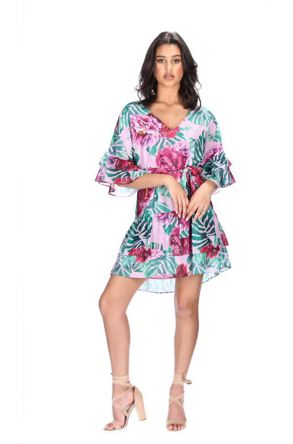 ESME DRESS - JUNGLE PALM