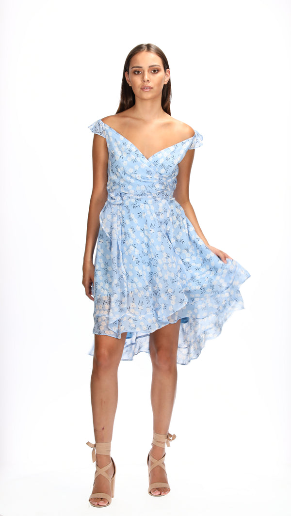 HADLEY DRESS - BLUE POSY