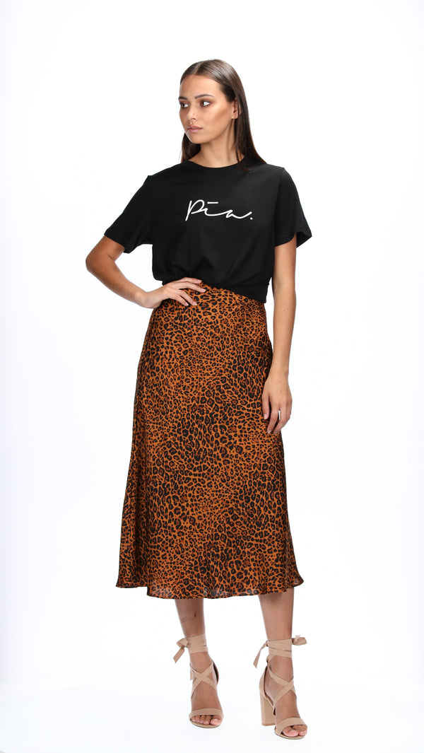 JANA SLIP SKIRT - ANIMAL