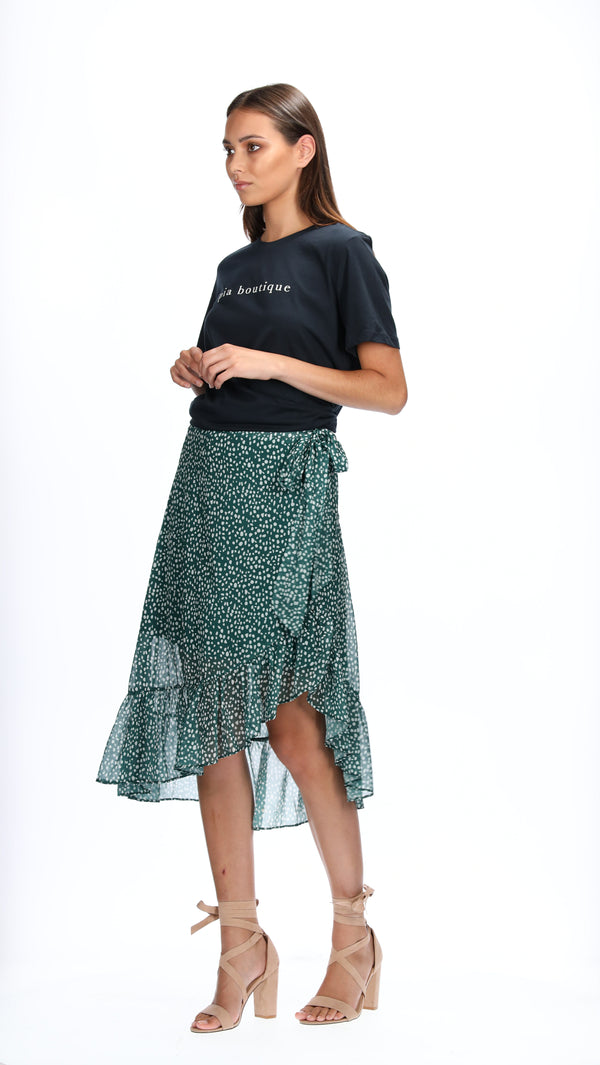 LEAH SKIRT - EMERALD