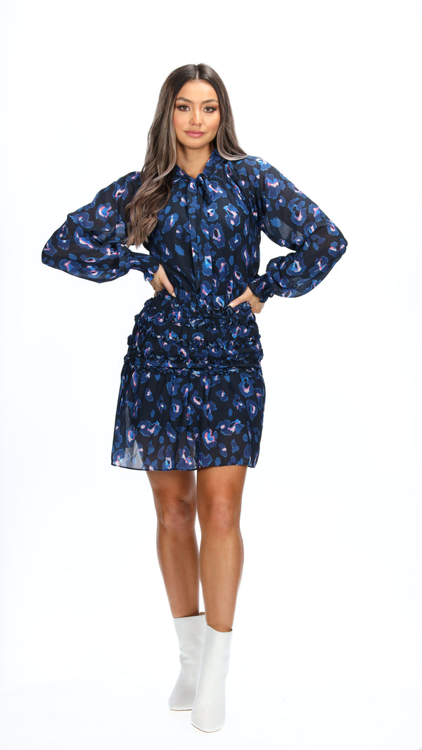 MCKENNA DRESS - NAVY ANIMAL