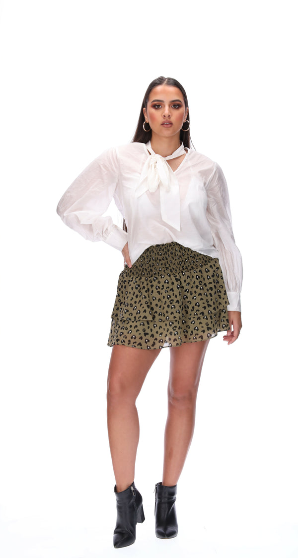 MICAH SKIRT - KHAKI ANIMAL