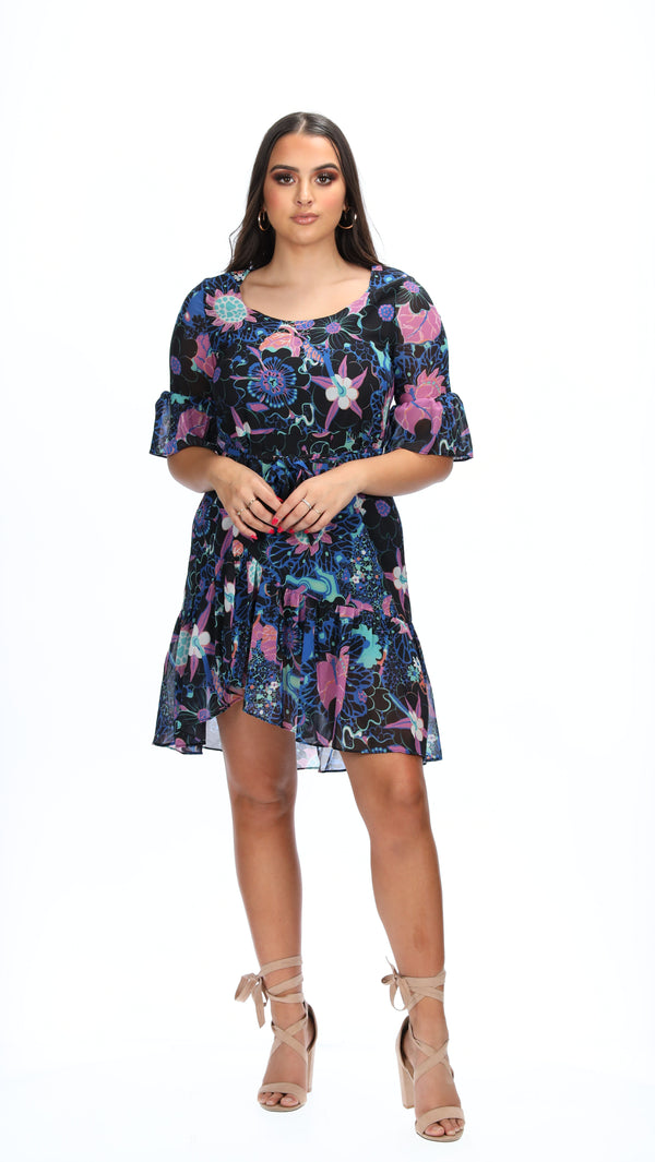 MILA DRESS - SEA PRINT