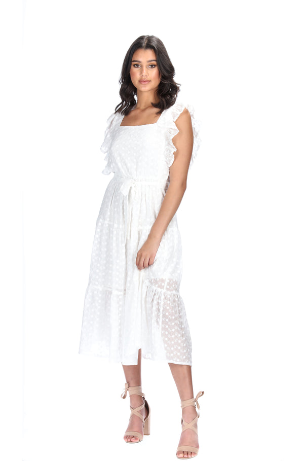 NATALIA DRESS - WHITE EMBROIDERED