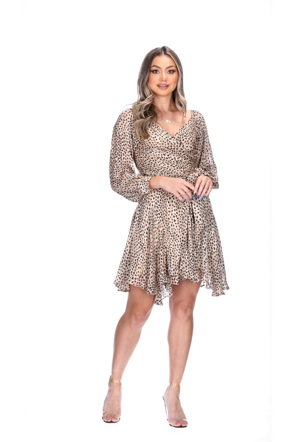 ARABELLA DRESS - CHEETAH SPOTS