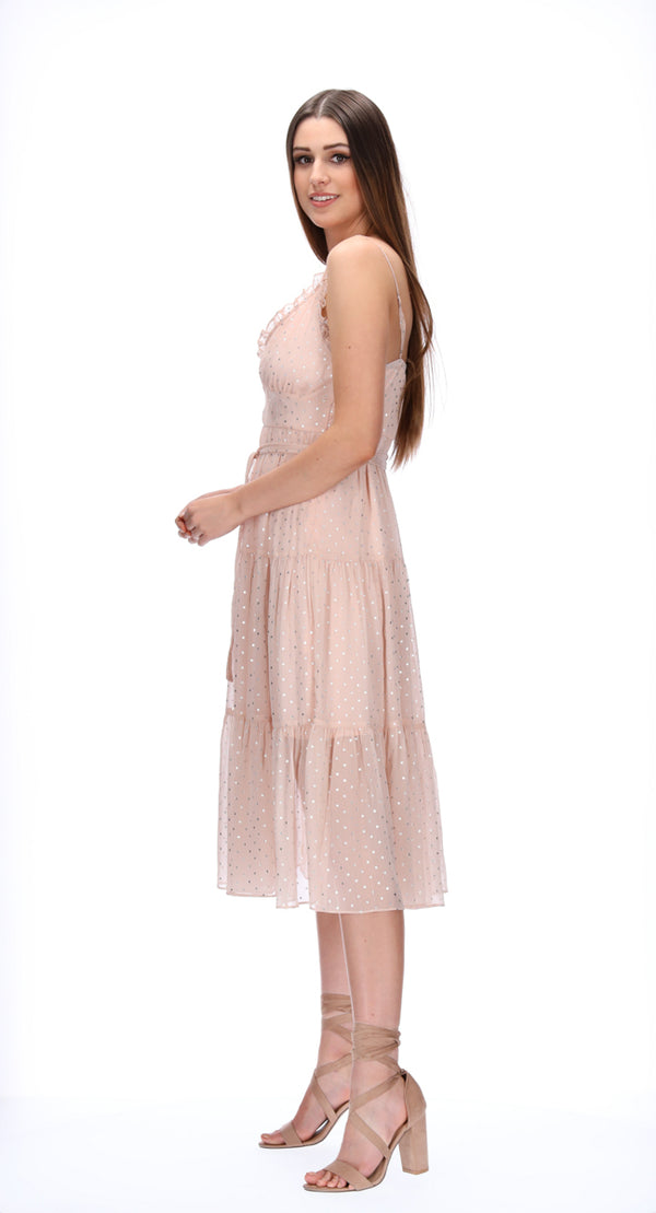 TILLY DRESS - BLUSH STARS