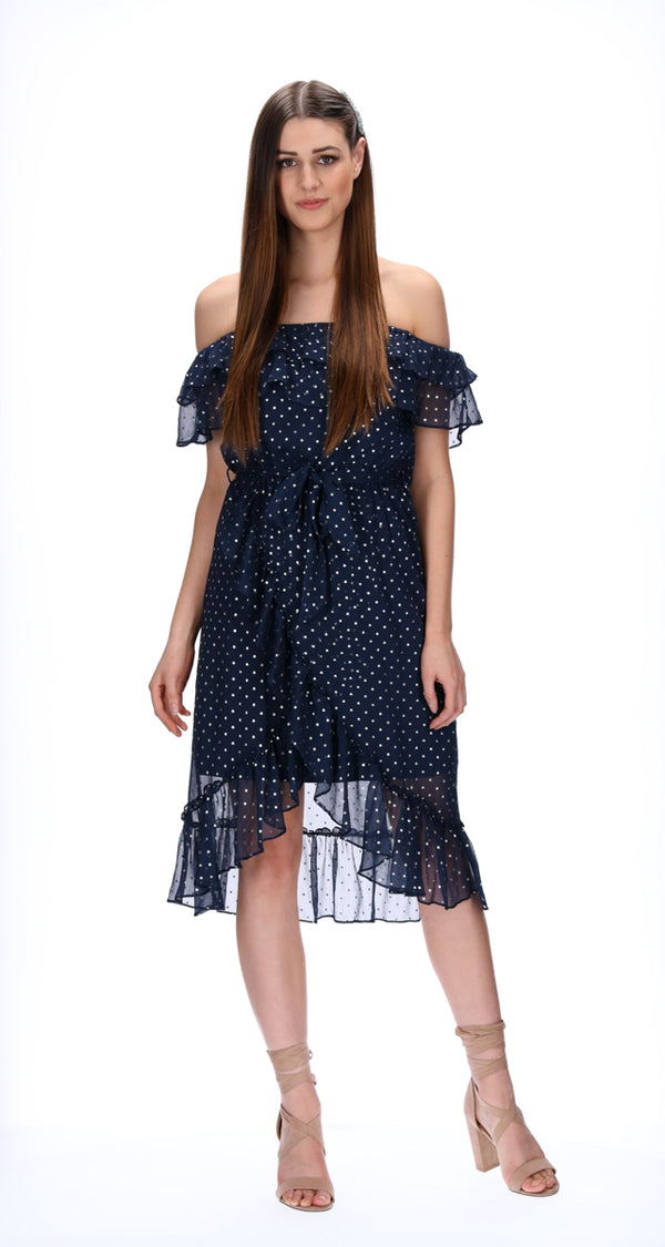 EVIE DRESS - NAVY / STARS