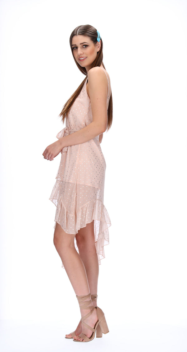 ELI DRESS - BLUSH STARS