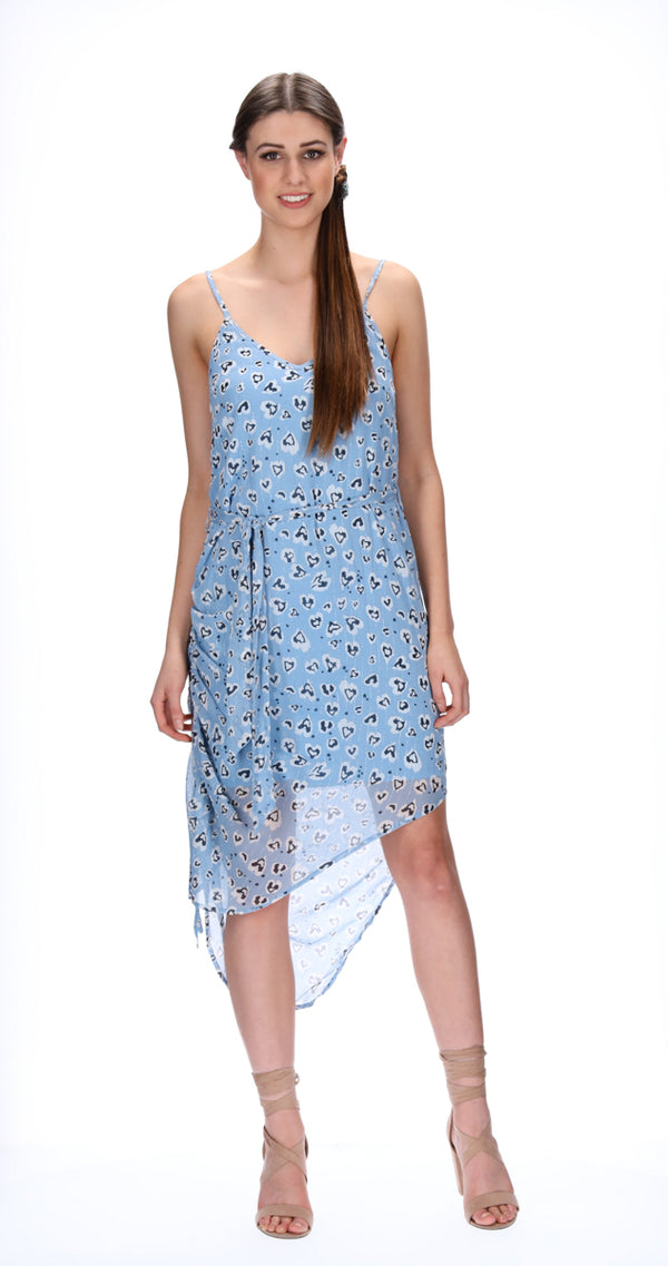 GRETA DRESS - BLUE ANIMAL