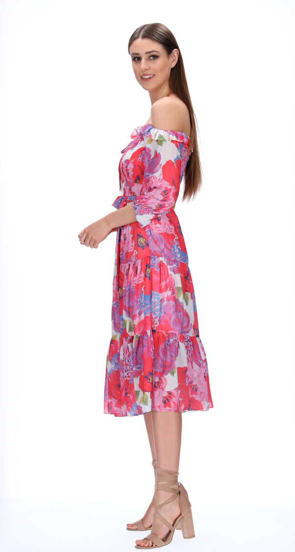 LISA DRESS - BLOOM PRINT