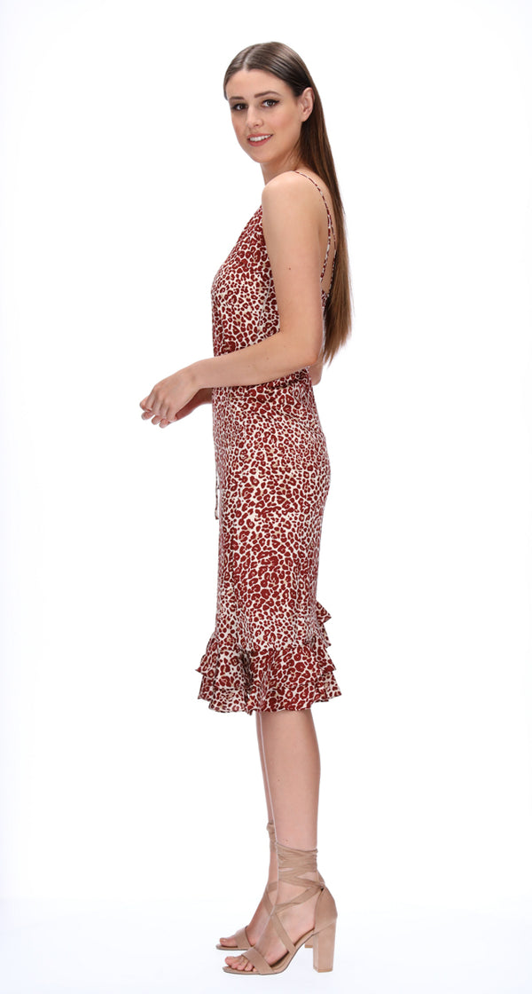 LEA DRESS - RED ANIMAL
