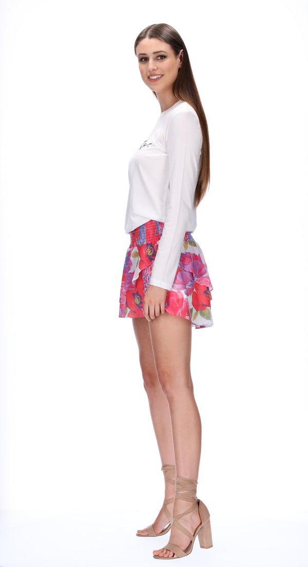 LIV SKIRT - BLOOM PRINT