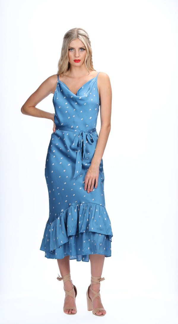 RAE DRESS - SEA BLUE