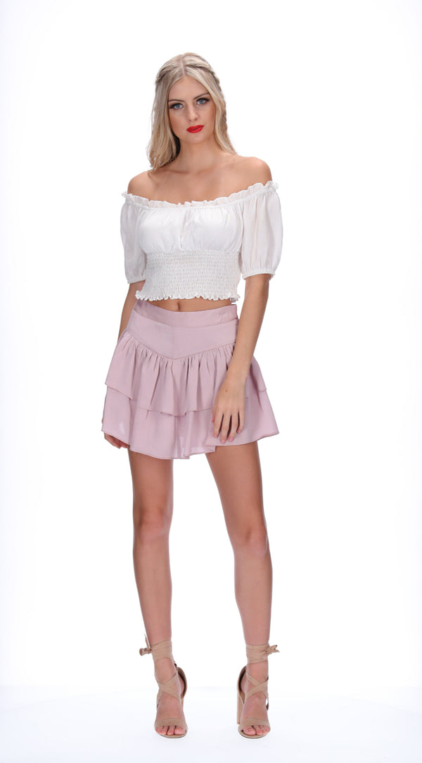 ROSALIE TOP - WHITE