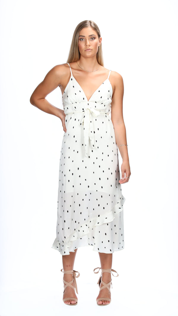 VALERIA DRESS  - WHITE SPOTS