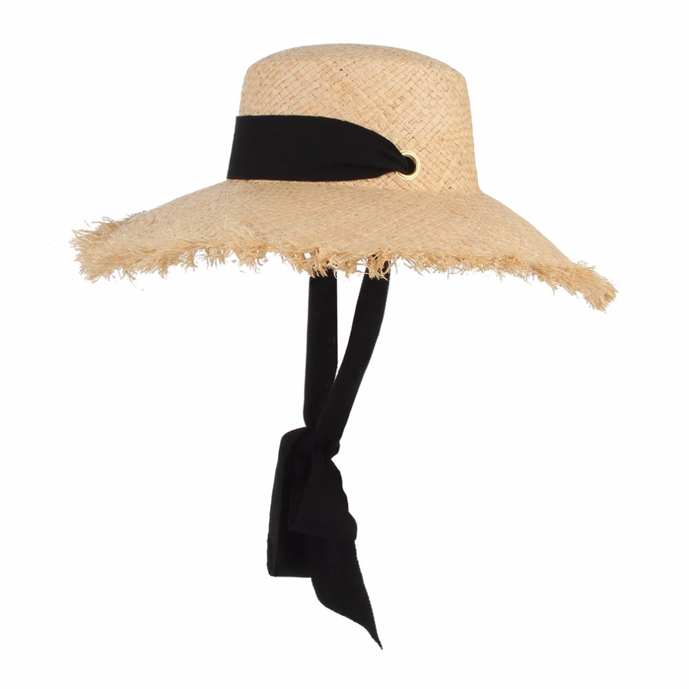 Straw Sun Hat With Ribbon - Shungite Mountain
