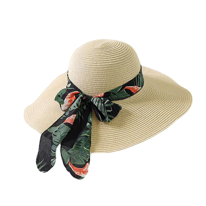Straw Hat With Bow - Shungite Mountain