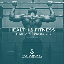 Load image into Gallery viewer, Health & Fitness Social Post Pack 2