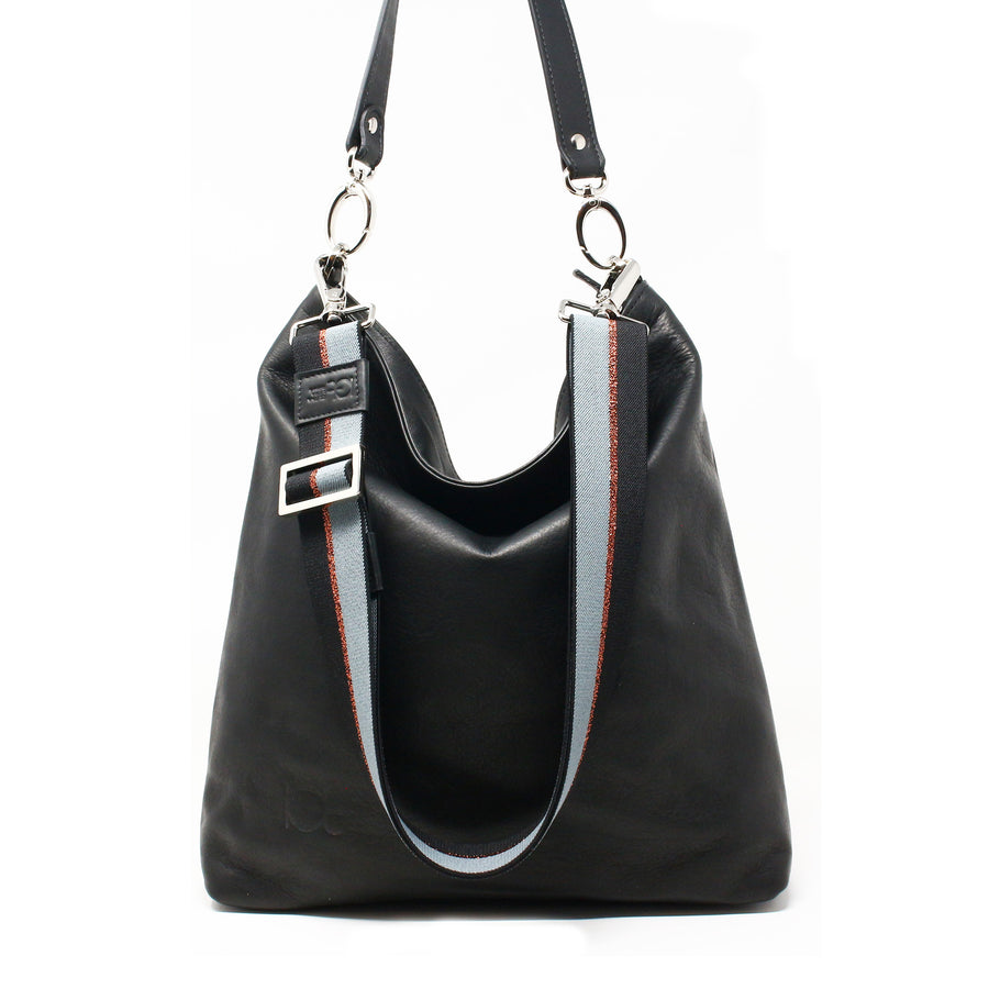 Leather Bag  Busta handmade with an elastic shoulder strap