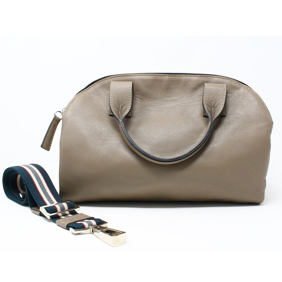 Leather Bag  Mini Professionale color acacia  handmade with an elastic shoulder strap