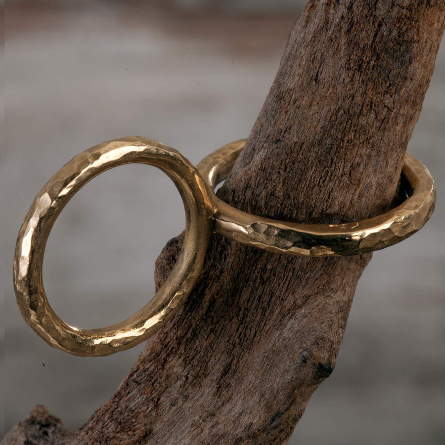 ring bronze Duo handmade