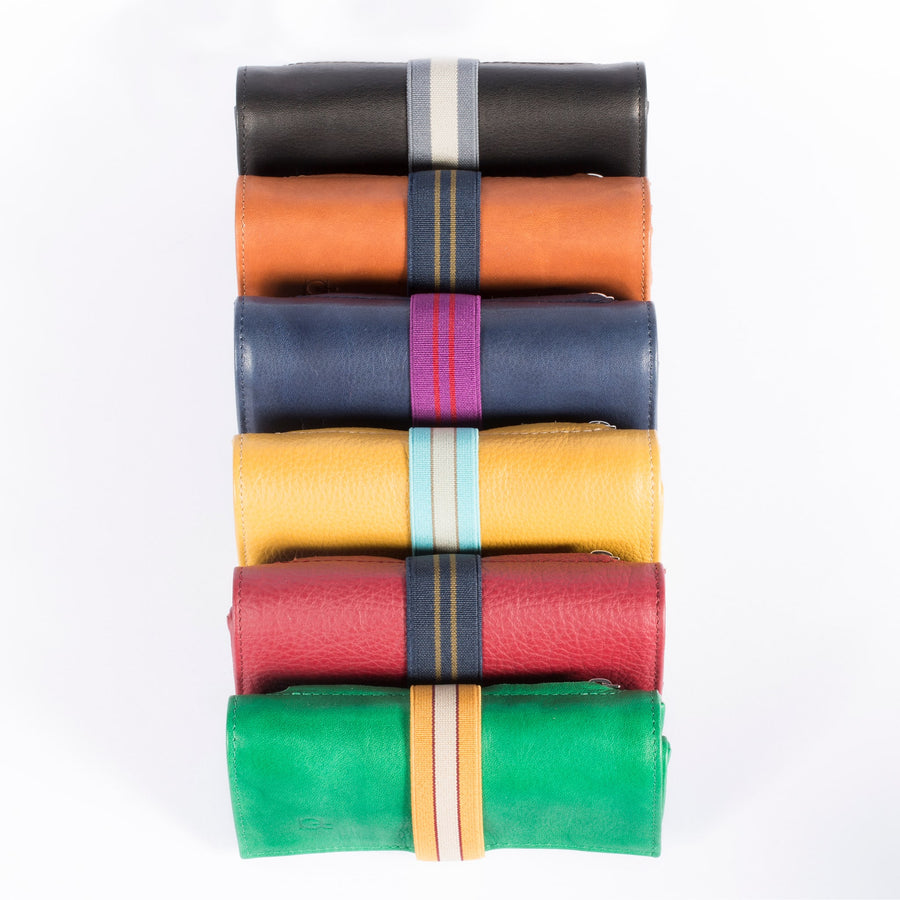 Astucci multicolor with elastic ribbon
