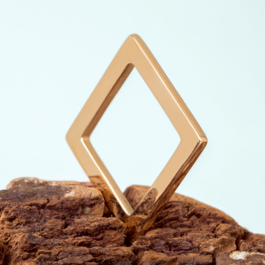 smooth Bronze Square Ring by Elena Lera