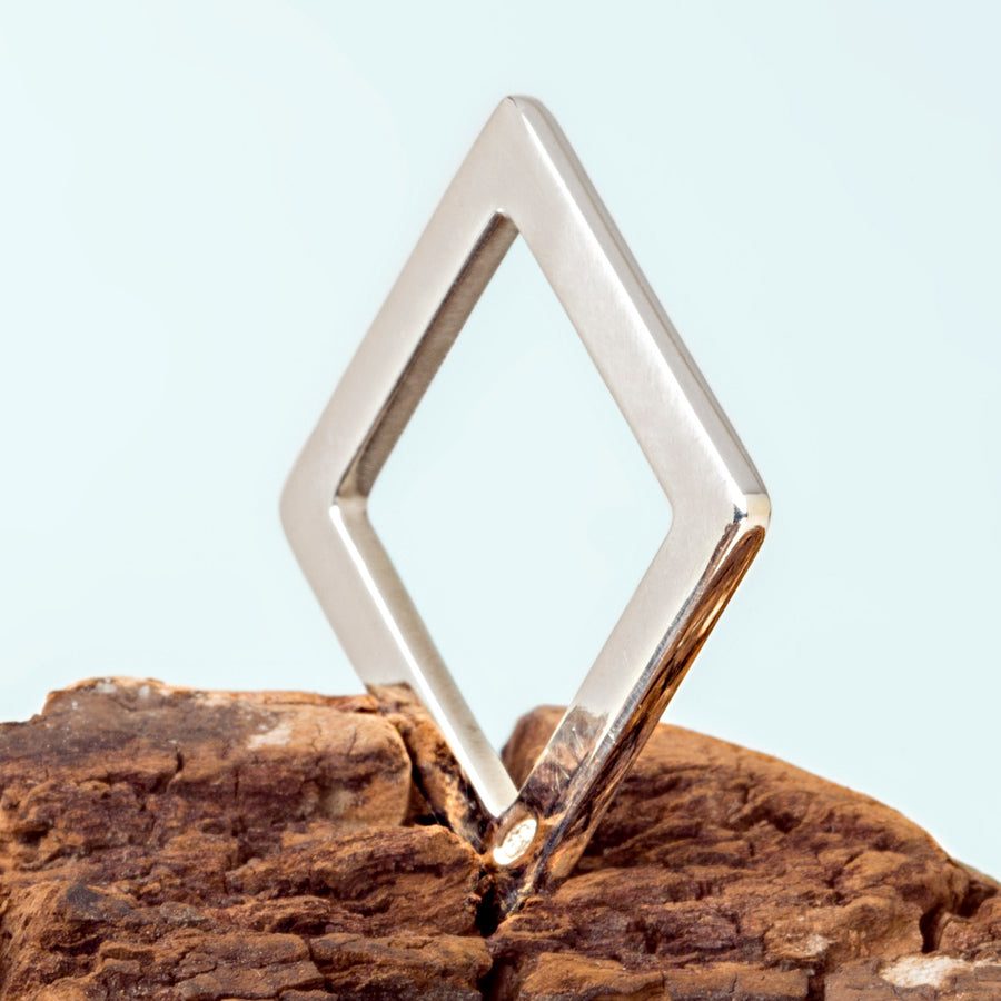 smooth Silver Square Ring by Elena Lera