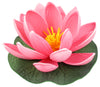 "Small Floating Foam Water Lily Flower, For Small Water Feature, Approx. 3.25"" x 3.25"" x 2"", Pink - TropicaZona"