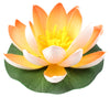 "Small Floating Foam Water Lily Flower, For Small Water Feature, Approx. 3.25"" x 3.25"" x 2"", Orange - TropicaZona"