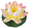 "Small Floating Foam Water Lily Flower, For Small Water Feature, Approx. 3.25"" x 3.25"" x 2"", Ivory-Pink - TropicaZona"
