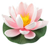 "Small Floating Foam Water Lily Flower, For Small Water Feature, Approx. 3.25"" x 3.25"" x 2"", Light Pink - TropicaZona"