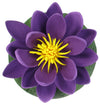 "Small Floating Foam Water Lily Flower, For Small Water Feature, Approx. 3.25"" x 3.25"" x 2"", Purple - TropicaZona"